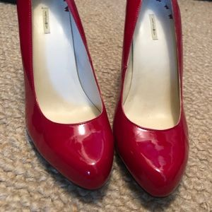 Max Studio Shoes - Red Patent Leather Max Studio Pumps (Size 8)